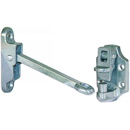 "Picture of Aluminum Door Hold Back with 4"" Hook & Keeper"