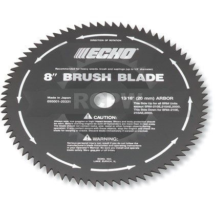 "Picture of 8"" 80-Tooth Brush 20mm Arbor Blade"