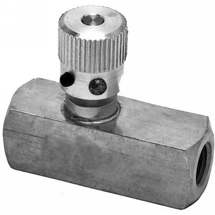 "Picture of 3/8"" Steel Flow Control Valve - NPT"