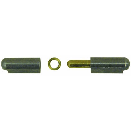 "Picture of 3-3/16"" Steel Weld On ""Bullet"" Hinge with Brass Pin and Brass Bushing"