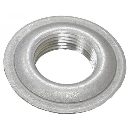 "Picture of 1/4"" Stainless Steel Stamped Welding Flange - 1.738"" OD - .620"" Pilot - .134"" Thickness"