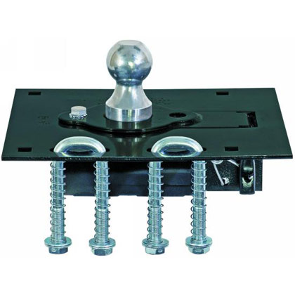 "Picture of Gooseneck Retractable Ball Hitch for 2-5/16"" Ball with U-Bolt Kit"