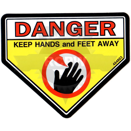 Picture of DECAL, DANGER, CUT FINGER