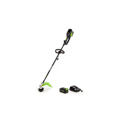 """Picture of 14"""" Straight Shaft Brushless Attachment Capable String Trimmer with 40V Lithium 6Ah Smart Battery and 2.2A Charger"""
