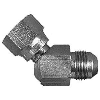 "Picture of Swivel Nut 45 Degree Elbow - 1/4"" Tube OD"