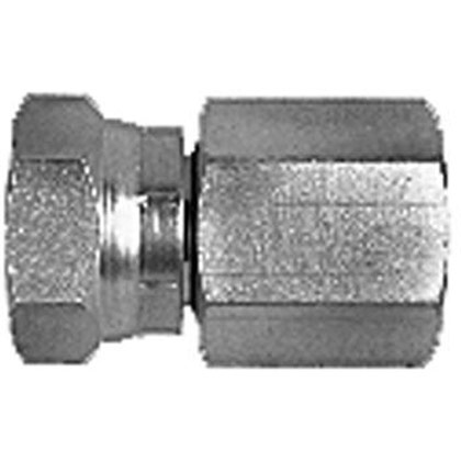 "Picture of Female Pipe Swivel to Female Pipe Straight - 1/2"" NPSM Swivel Nut x 1/2"" Female Pipe Thread"
