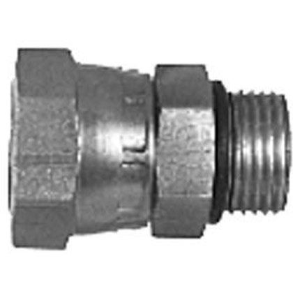 "Picture of Male Straight Thread to Female Pipe Swivel Straight - 7/16"" NPSM Swivel Nut x 3/8"" Female Pipe Thread"