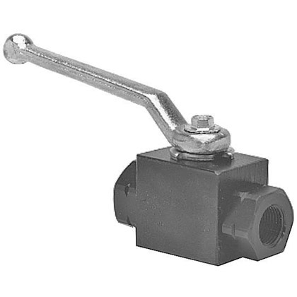 "Picture of 1-1/4"" NPTF 3-Port High Pressure Ball Valve"