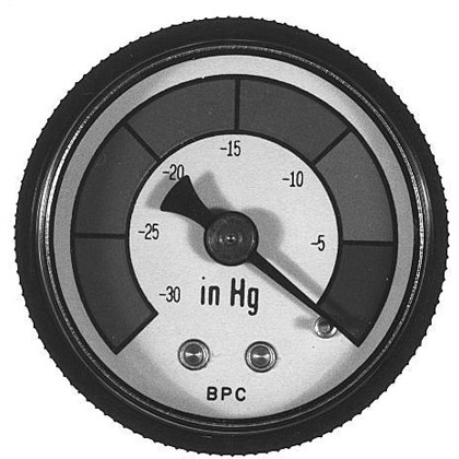 "Picture of Vacuum Indicator Gauge (Suction) - 1-1/2"" Dial with 1/8"" NPT Stem - HFA4-Series"