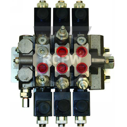 Picture of 1 x 3 Way & 2 x 4 Way Electric Valve w/ Power Beyond
