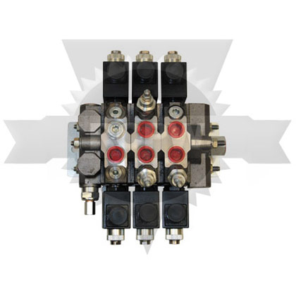 Picture of 1 x 3 Way, 2 x 3 Way w/ One Port Relief & 1 x 4 Way w/ Two Port Relief Electric Valve w/ Power Beyond