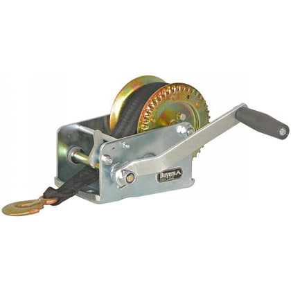 "Picture of 2000 lb Hand Winch with 2"" x 20' Nylon Strap"