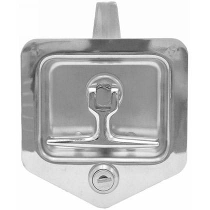 Picture of Folding T-Handle Latch with Single Latch Point and Blind Studs Gasket and Cylinder with Keys