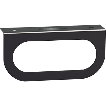 Picture of Single Oval Light Mounting Bracket - Black Powder Coated Finish