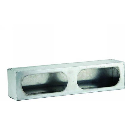 Picture of Dual Oval Light Box with Side Light - Diamond Tread Aluminum