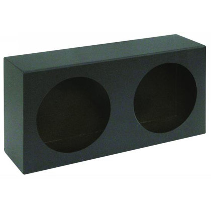 Picture of Dual Round Light Box - Black Powder Coated Steel