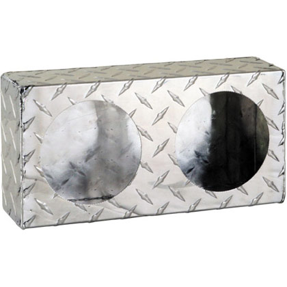 Picture of Dual Round Light Box - Diamond Tread Aluminum