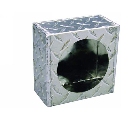 Picture of Single Round Light Box - Diamond Tread Aluminum
