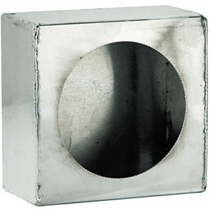 Picture of Single Round Light Box - Smooth Aluminum