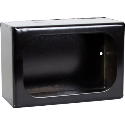 Picture of Single Rectangle Light Box - Black Powder Coat Steel