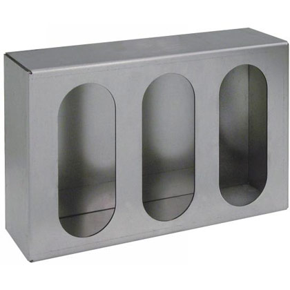 Picture of Triple Oval Light Box - Vertical or Horizontal - Steel - Gray Primer
