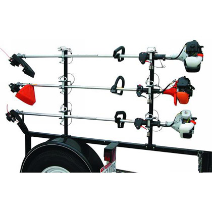 Picture of 3-Position Lockable Trimmer Rack with Channel and Flat Pin Design for Open Trailers