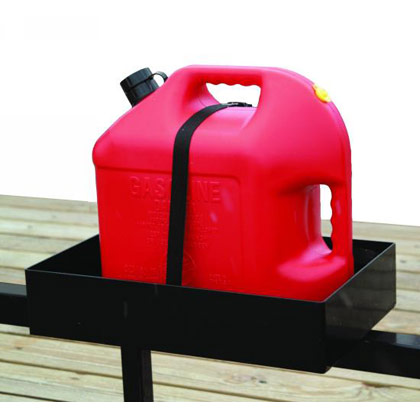 Picture of Trailer Gas Can Rack for One 5 Gallon or Two 2-1/2 Gallon Rectangular Polymer Cans