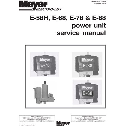 Picture of E-58H, E-68, E-78 & E-88 Power Unit Service Manual