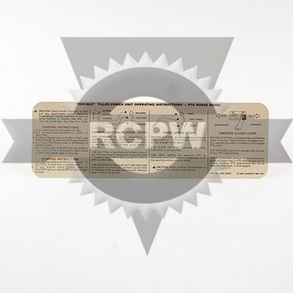 Picture of DECAL-INSTRUCTION