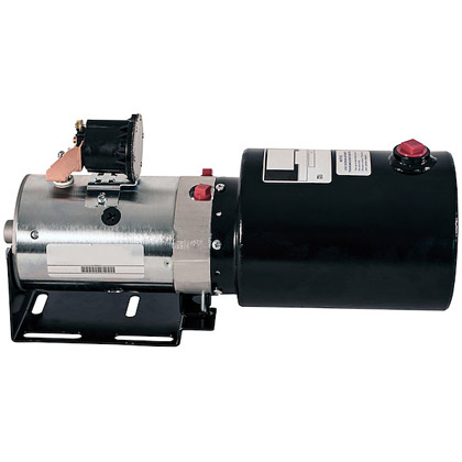 "Picture of DC Power Unit (no valve) - 6"" x 9"" 1 Gallon Usable Steel Reservoir (217 cubic in.)"