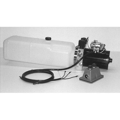 "Picture of Electric 4-Way Function DC Power Unit - 5-1/2"" x 6-1/2"" x 19"" 1.87 Gallon Usable Poly Reservoir (432 cubic in.)"