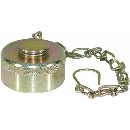 Picture of Steel Dust Cap with Chain - 18 GPM