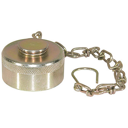 Picture of Steel Dust Cap with Chain - 75 GPM