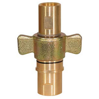 "Picture of 1-1/2"" NPT Wing Coupler Male End - 100 GPM"