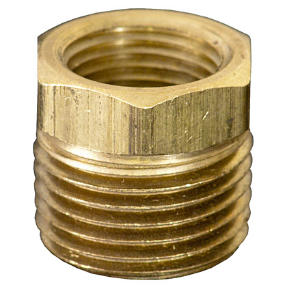 "Picture of Brass 1/2"" x 3/8"" Reducer Bushing"