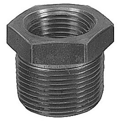 "Picture of 1-1/2"" Male NPT x 1-1/4"" Female NPT Iron Reducing Bushing"