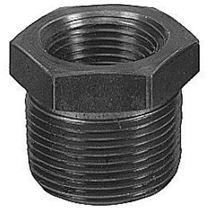 "Picture of 2"" Male NPT x 1-1/4"" Female NPT Iron Reducing Bushing"