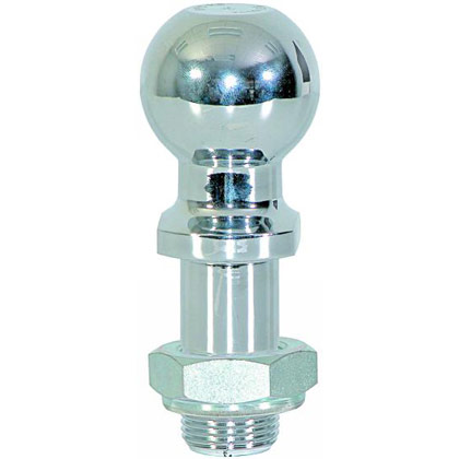 "Picture of 2"" Chrome Replacement Ball with Lock Nut for RM6 and BH8 Series Hitches"