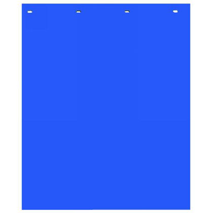 "Picture of Blue Polymer Mudflaps - 24"" W x 30"" H - Pair"