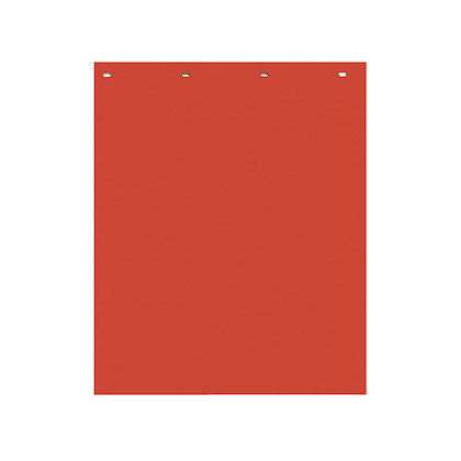 "Picture of Red Polymer Mudflaps - 24"" W x 30"" H - Pair"