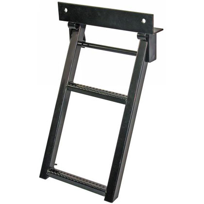 Picture of Black Powder Coated 2 Rung Sure Step Retractable Truck Step
