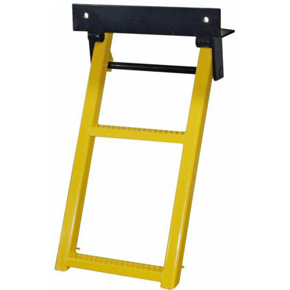 Picture of Yellow Powder Coated 2 Rung Sure Step Retractable Truck Step
