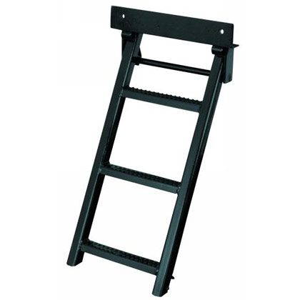 Picture of Black Powder Coated 3 Rung Sure Step Retractable Truck Step