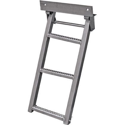 Picture of Stainless Steel 3 Rung Sure Step Retractable Truck Step