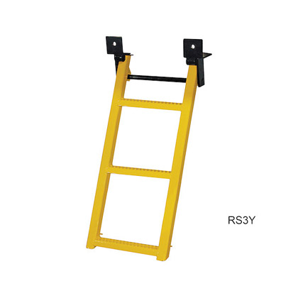 Picture of Yellow Powder Coated 3 Rung Sure Step Retractable Truck Step