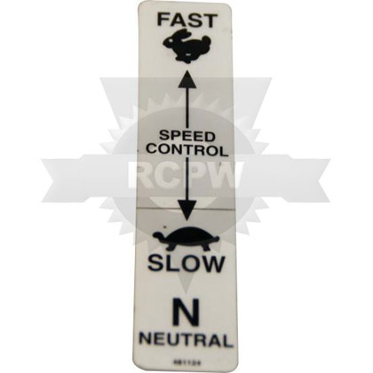 Picture of DECAL, SPEED CONTROL