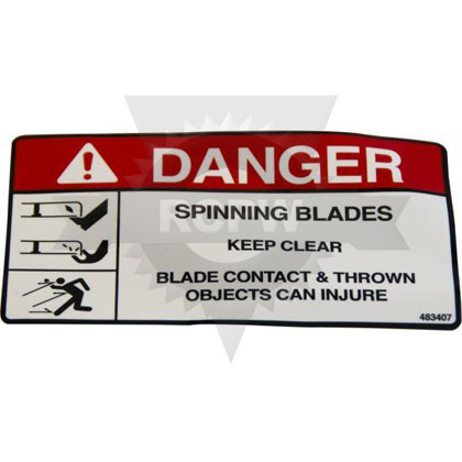 Picture of DECAL, SPINNING BLADES