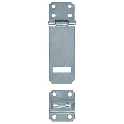 "Picture of Zinc Plated Security Hasp for Security Lock - 3.47"" L x 1.46"" W"