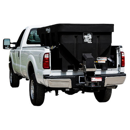 "Picture of Buyers SaltDogg 87.3"" 1.45 Cubic Yard Electric Black Polymer Hopper Salt Spreader (Extended Chute)"