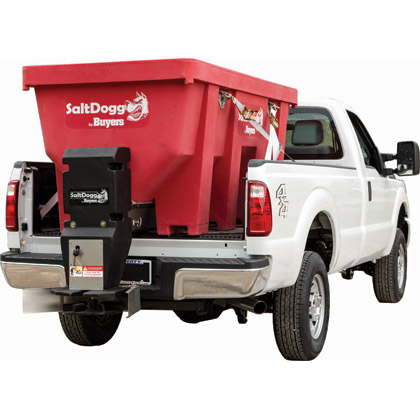 Picture of Buyers SaltDogg 2.20 Cubic Yard Electric Red Polymer Hopper Salt Spreader